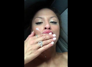 Sumptuous mummy facial pop-shot..