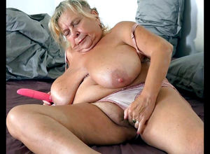 Round grandmother squashing her..