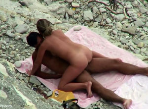 Beach first-timer fuck-a-thon from spy..