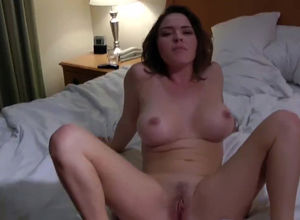 This huge-boobed wifey get ejaculation..