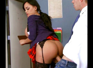 Student desire hooter shag with..