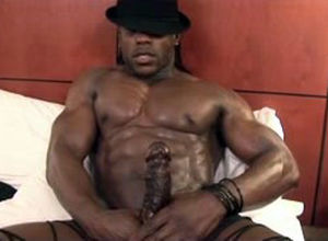 Ebony stud stripper with immense..
