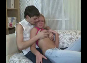 Uber-cute blond teenage was penetrated..