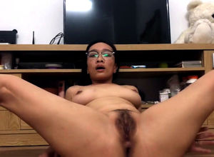 Nasty chinese mature plays with her..