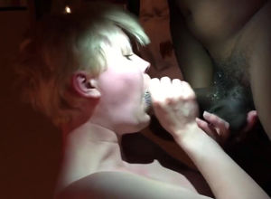 Devotee of Big black cock takes in her..