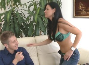 Pornographic star India Summer gets poon