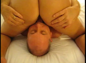 pummel wife's vagina while her..