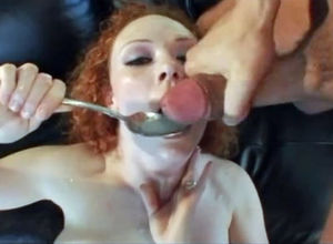 Red-haired Irish superslut Big black..