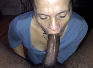 Mature hostess blown Big black cock of..