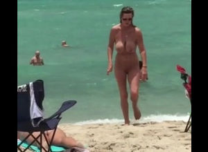 Entirely bare damsel naturist with..