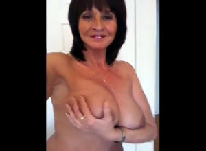Depraved and nude elderly gal from..