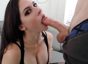 Smoking super-hot gf fellate for..