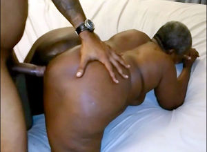 Gigantic oily ebony grandma pulverized..