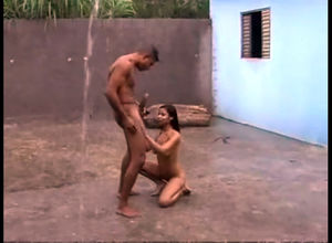 Xxx screwing with latina chesty hoe..