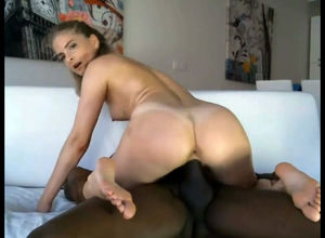 Bi-racial web cam duo displays a..