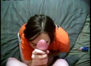 Lovely wifey on her knees gets her..