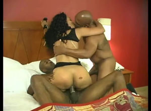 Ebony slutwife taking 2 BBCs and asked..